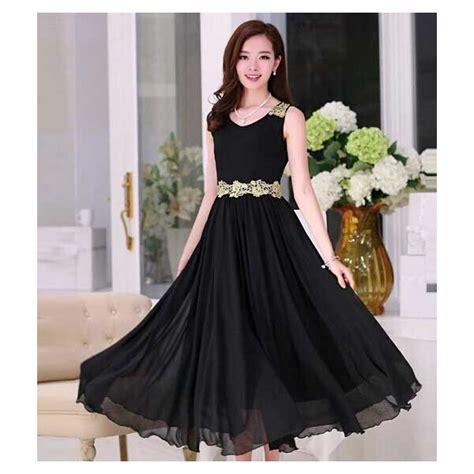 Longdres Tanpa Lengan Ungu dress pesta tanpa lengan d1904 moro fashion