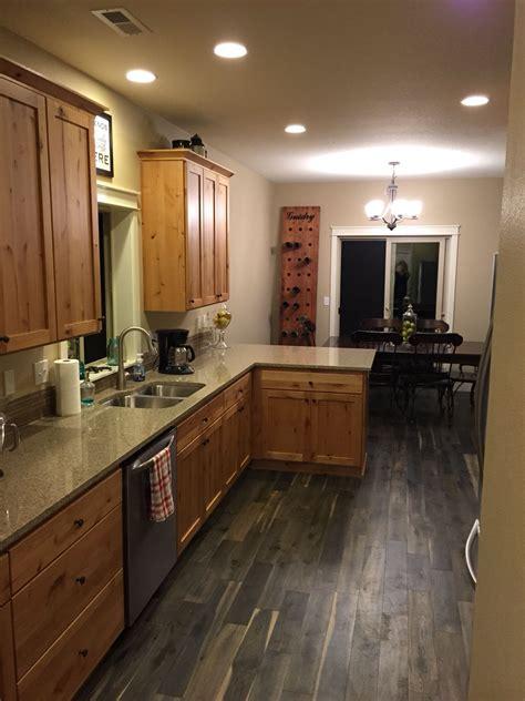 Wood Plank Kitchen Cabinets