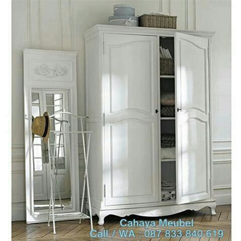 Lemari 2 Pintu Warna Putih lemari pakaian 2 pintu putih duco cahaya mebel jepara