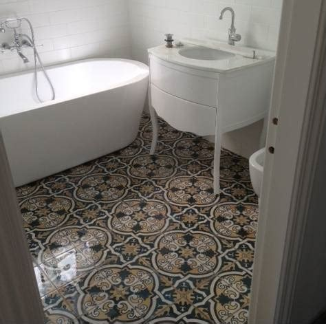Vintage Bathrooms Ideas by Sydney Tiles Moroccan Artisan Encuastic Vintage