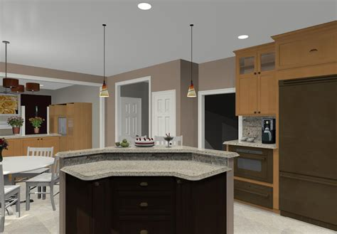 Two Tier Kitchen Island Different Island Shapes For Two Tier Kitchen Island Designs