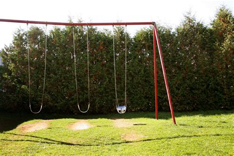 diy metal swing set diy wooden swingset on a budget how to adult
