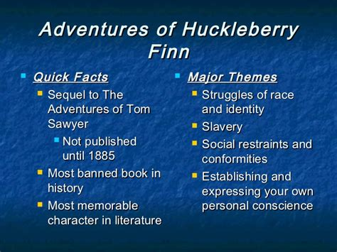huckleberry finn important themes american individualism