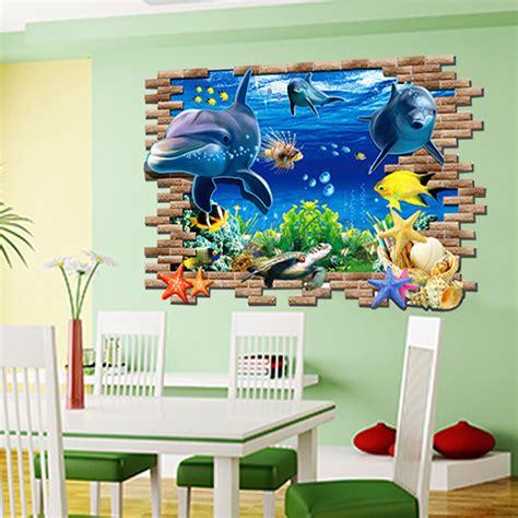 Wandtattoo Kinderzimmer Ozean by Wandtattoo Fisch Delfine Ozean Meer Wanddekoration Vinyl