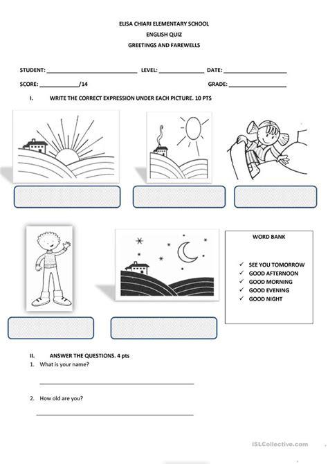 Esl Worksheets Free Printable by Greetings Worksheet Free Esl Printable Worksheets Made