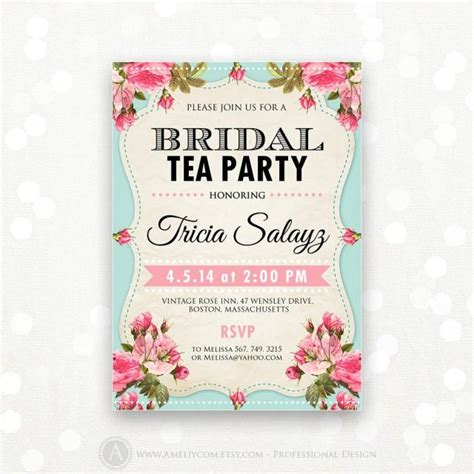 Who Gets Invited To The Bridal Shower by Printable Bridal Shower Invitation Bridal Tea Invite Bridal Brunch Shower The