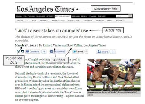 cite newspaper article found online mla format )