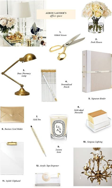 white and gold office desk gold white lovely office accents office pinterest