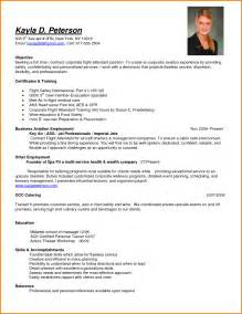 Resume Examples For Flight Attendant Flight Attendant Cv Format Agenda Template Website