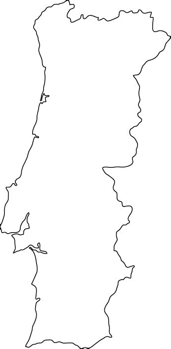 Portugal Map Outline by Portugal Outline Map