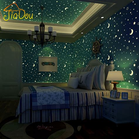 moon and stars bedroom decor online buy wholesale wallpaper stars from china wallpaper