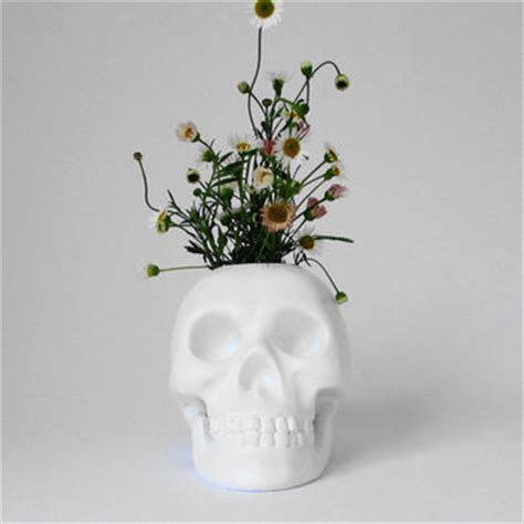 skull decorations for the home skull brush holder skull skulls white from hodi home decor