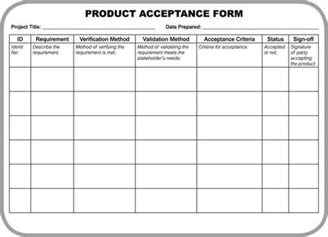 Kra Acceptance Letter Customer Acceptance Form Template