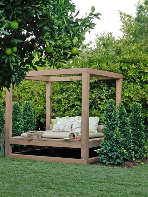 backyard bed outdoor lounging spaces daybeds hammocks canopies and
