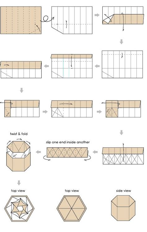 Origami Boxes With Lids Templates - best 25 hexagon box ideas on