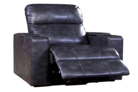 Black Leather Power Recliner by Black Leather Power Recliner With Tray