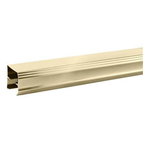 Sliding Shower Door Track Delta 60 In Sliding Shower Door Track In Polished Brass Sdls060 Pb R The Home Depot
