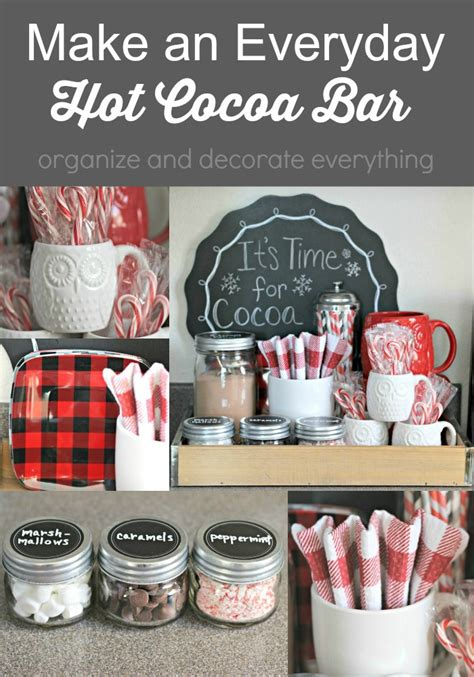 Make an Everyday Hot Cocoa Bar   Organize and Decorate Everything