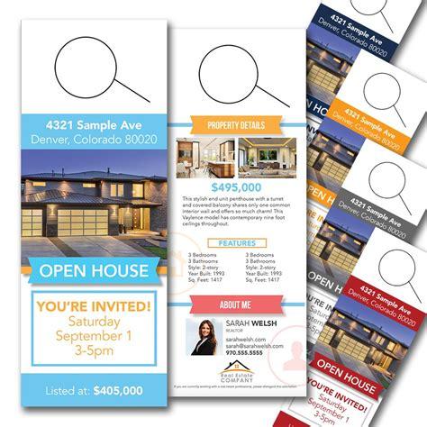 Modern Open House Door Hanger Open House Door Hanger Template