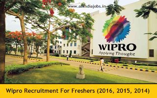 For Mba Freshers In Wipro by Wipro Recruitment 2016 2017 For Freshers