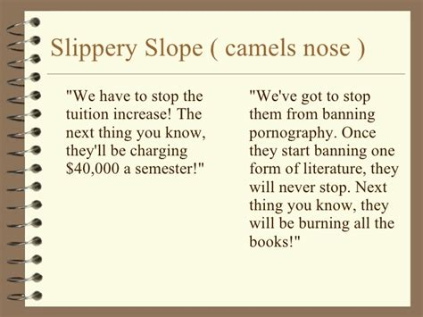 slipper slope fallacy pics for gt exles of slippery slope fallacy in media