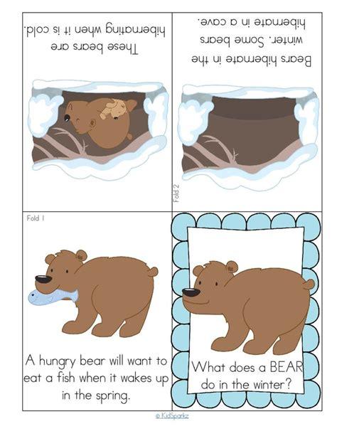 kindergarten activities bears hibernating bear foldable booklet worksheets pinterest