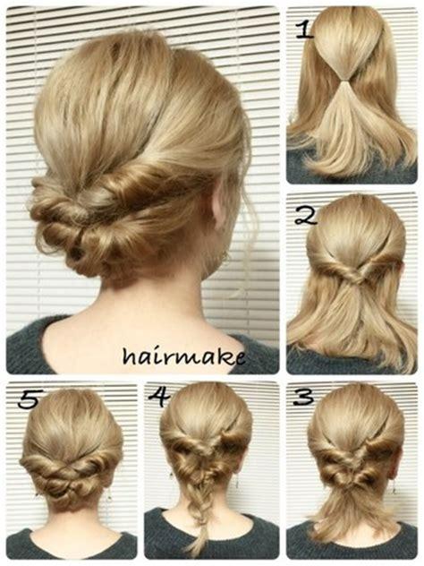 簡単かわいいまとめ髪♡「くるりんぱ」を使った素敵なヘアアレンジ | キナリノ