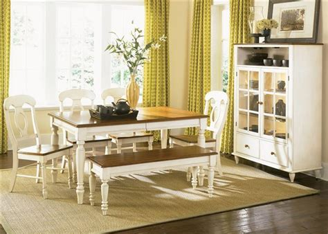 Cottage Style Dining Room Furniture Low Country Cottage Style White Wood Dining Room Furniture Set Liberty