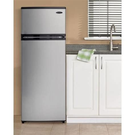 Apartment Size All Fridge Danby 7 4 Cubic Foot Black Platinum Two Door Apartment