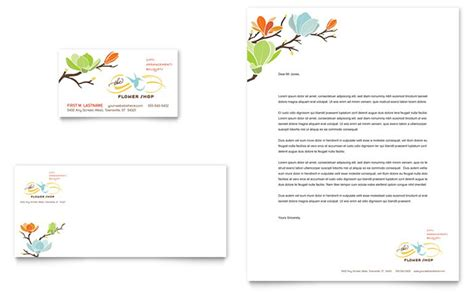 Home Office Design Planner by Flower Shop Business Card Amp Letterhead Template Design