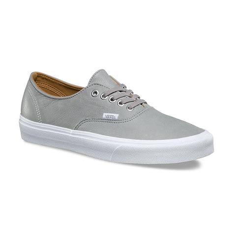vans authentic decon leather grey shoes 163 56 99 in stock at tallington lakes pro shop
