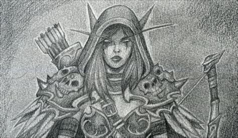 how to draw sylvanas how to draw sylvanas windrunner from world of warcraft step 14