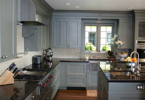 grey kitchen cabinets with black granite countertops grey kitchen cabinets with granite countertops home