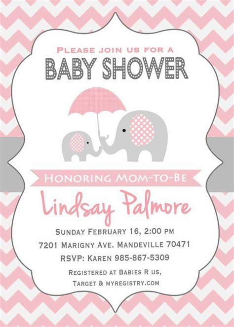 Baby Shower Invitation Templates Pink Elephant Baby Shower Invitations Easytygermke Com Elephant Baby Shower Invitations Templates