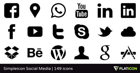 Bantal Mobil 18 In 1 Chanel Hitam Logo Putih 145 free vector icons of simpleicon social media designed