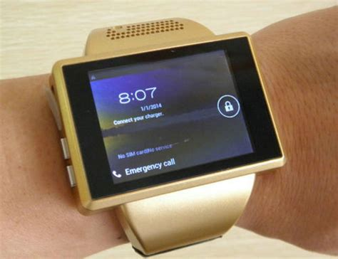 Gold AN1 Smart Watch Cell Phone Android 4.1 Dual Core 2.0 Inch Touch Screen Watch Mobile Phone 2
