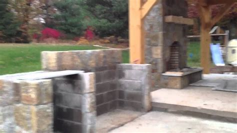 how to build outdoor fireplace pavilion with outdoor