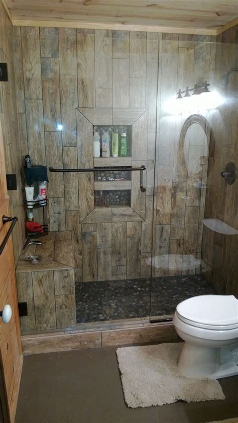 rustic tile bathroom rustic shower bathroom showers pinterest rustic