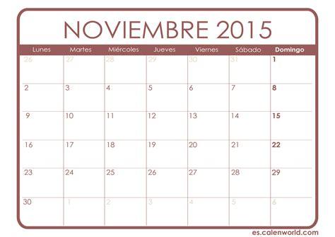 calendario de noviembre de 2015 calendario noviembre 2015 calendarios para imprimir