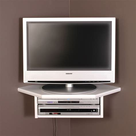 Tv Accessories Wall Shelf by Creative Connectors Corner Floating Wall