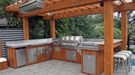 custom outdoor kitchen designs pergola kitchen 3
