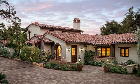Dining Room Trim Ideas Tuscan Roof Exterior Mediterranean With Potted Plants