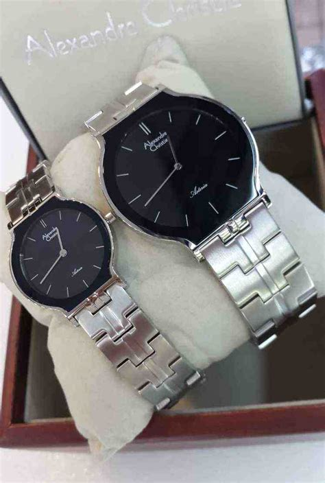 Alexandre Christie Ac 8410 Original Black Gold Sepasang jual alexandre christie ac 8410 white steel black