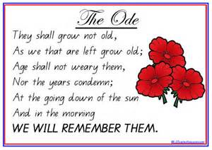 remembrance day and anzac day the ode