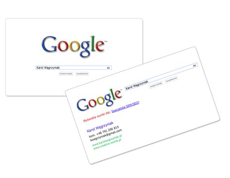 google design cards google business card by karollorak on deviantart
