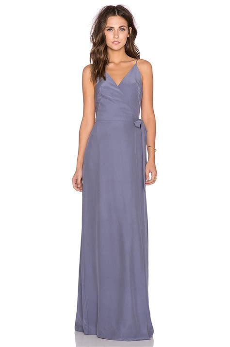 Alexandria Maxy amanda uprichard alexandria maxi dress in pewter evening