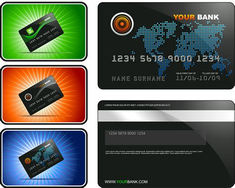 Credit Card Template Ai Bank Card Template Vector Free Vector 4vector