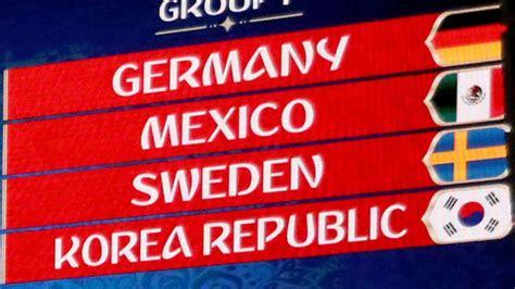 wm 2018 in russland deutschland gegen mexiko schweden