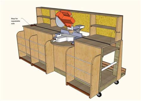 firewood saw bench plans combo miter saw station lumber rack 1