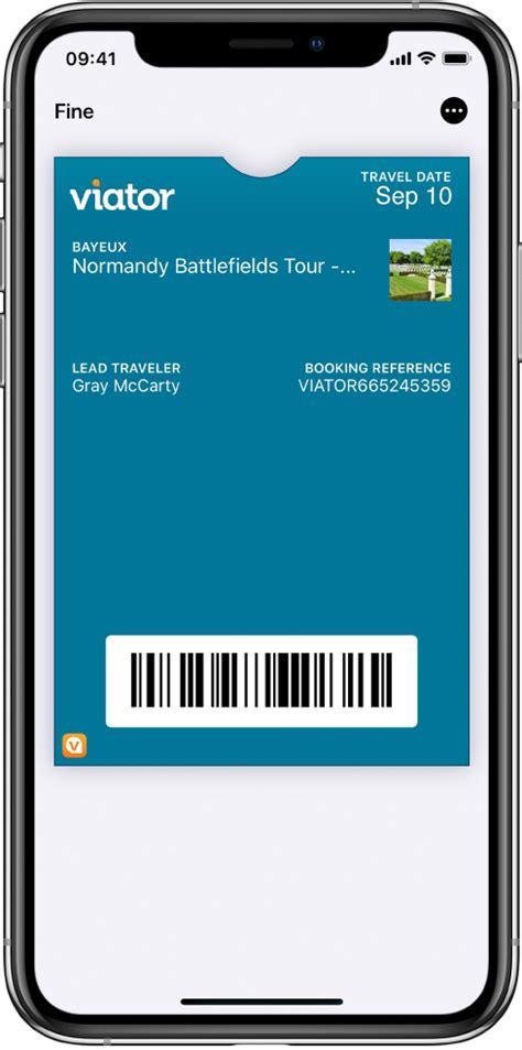 utilizzare  biglietti  wallet su iphone supporto apple